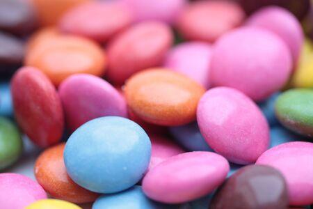 smarties: colored candies - smarties Stock Photo