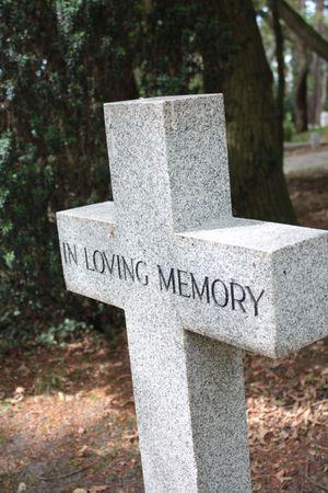 in loving memory: Cross gravestone - In loving memory