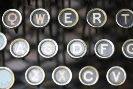 yesterdays office: vintage typewritter, detail photo