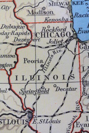 Vintage 1956 map: Illinois, Prairie State photo
