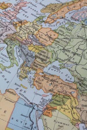 Vintage 1956 map: Europe photo