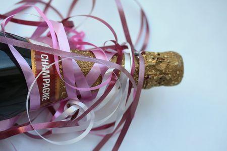 Botella de champagne decorada Foto de archivo - 5354247