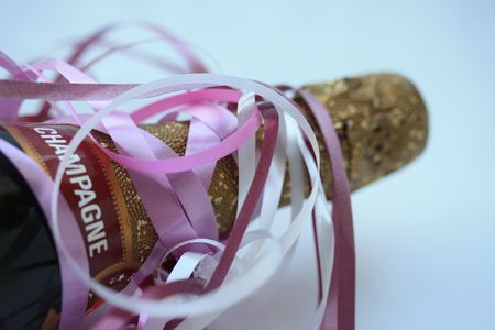 Decorated Champagne bottle Stock Photo - 5354252