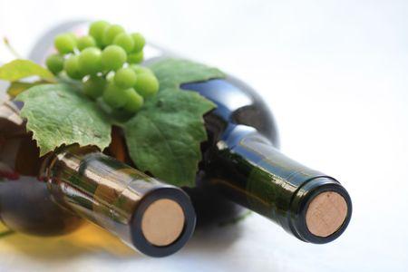 bordeau: wine bottles Stock Photo