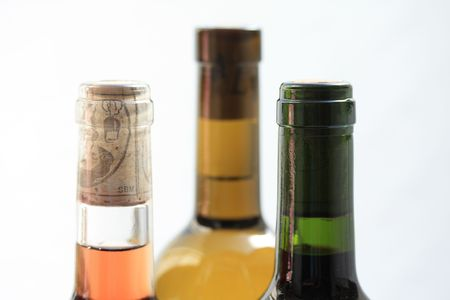 bordeau: wine bottles in close up