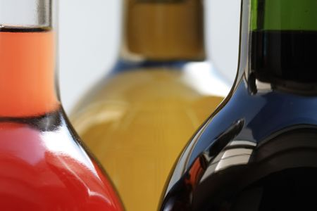 wine bottles in close up Stock Photo - 5354293