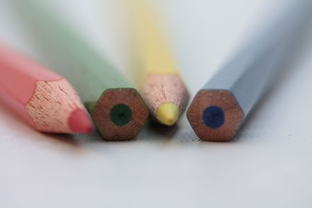 Pencils on soft focus photo
