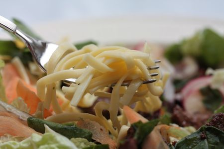 Japanese teriyaki noodle salad with beef