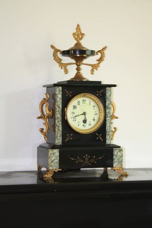 Antique clock, black marble Stock Photo - 5386855