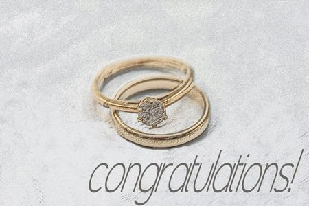print and post wedding congratulations card rings stock photo picture and royalty free image image 5386860