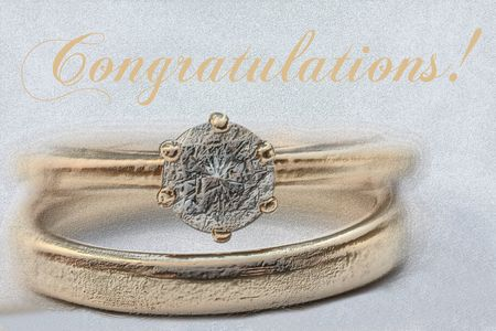 Print and post: Wedding congratulations card, rings  photo