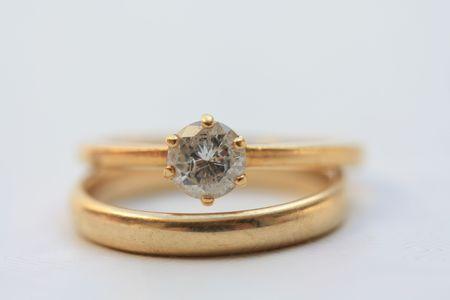 anillo de compromiso: Anillo de compromiso y boda banda Solitaire
