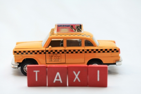 public transfer: Yellow new york taxi cab Stock Photo