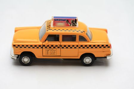 new york yellow cab taxi toy car
