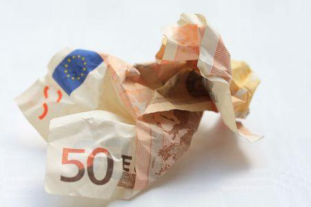 trashy: trashy fifty euro banknote Stock Photo