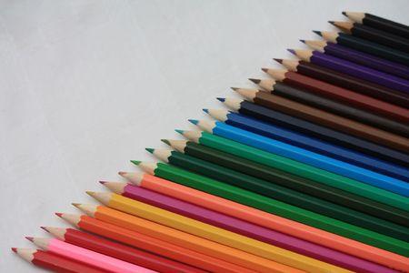 rainbow color pencils photo
