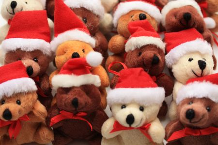 religious event: Group of christmas bears,