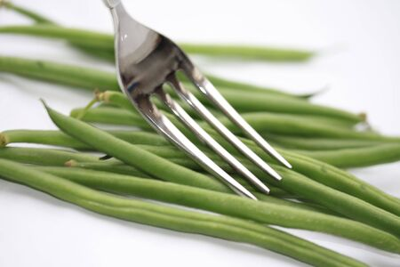 haricots verts - common green beans, one of the easiest vegetables to prepare and very suitable for fushion cooking photo