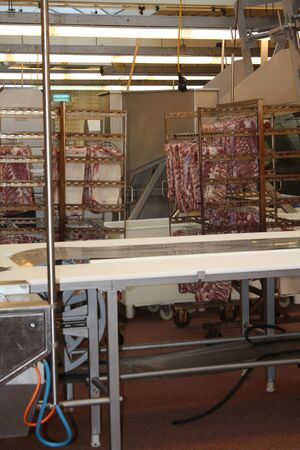 Overview of a cold cut factory interior Stock Photo - 5692699