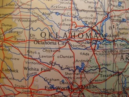 oklahoma city: Oklahoma, the Sooner state Stock Photo