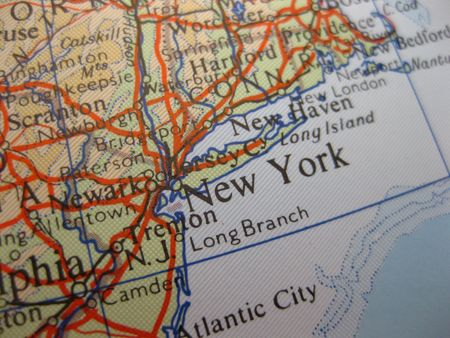 Map of New York City photo