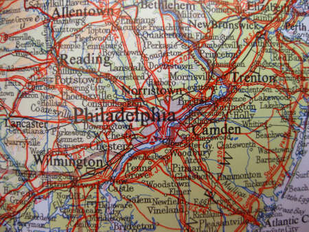 Map of Philadelphia, Pennsylvania photo