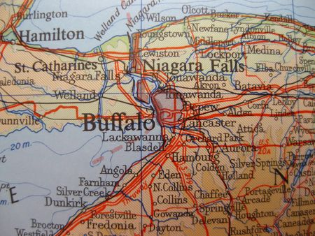 new york map: map of Buffalo, New York Stock Photo