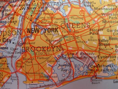 wall maps: Map of New York City