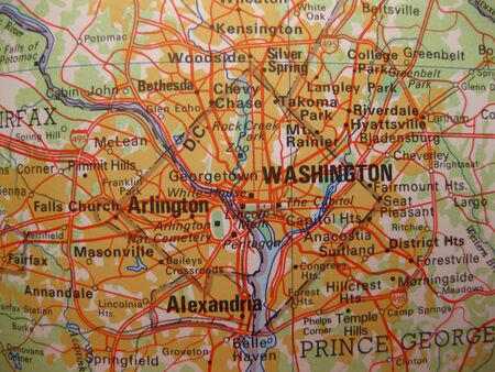 Map of Washington DC photo