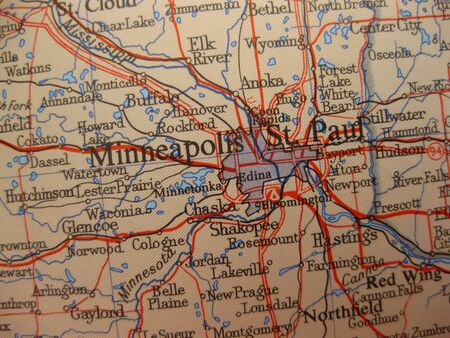 Map of Minneapolis, Minnesota photo