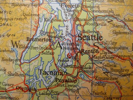 Map of Seattle, Washington photo