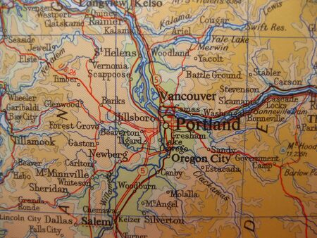 portland: Map of Portland, Oregon