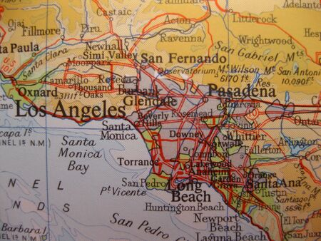 map of Los Angeles, California photo