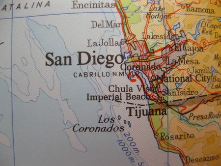 Map of San Diego, California photo