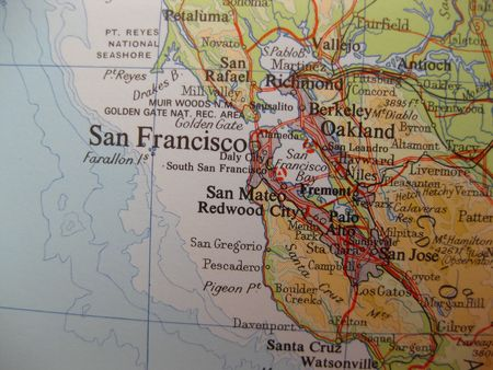 Map of San Francisco, California photo