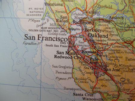 Map of San Francisco, California photo