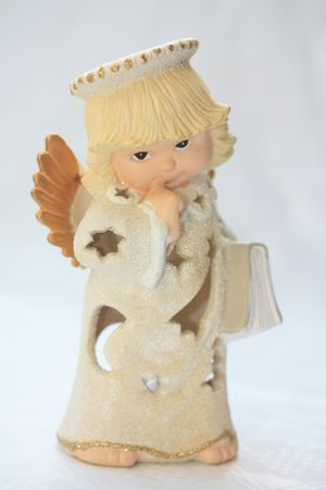 A sweet christmas angel with a bible photo