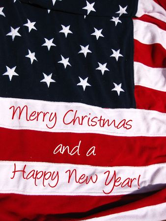 An American Christmas greeting photo