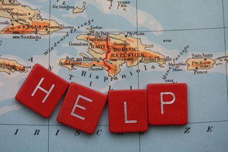 Helfen Haiti DOWNLOAD wird auf HAITI gespendet werden Standard-Bild - 6300929