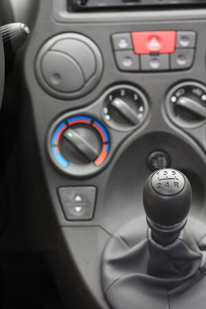 detail of a car interior, stick shift car Stock Photo - 6720710