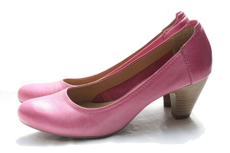 A pair of pink leather ladies shoes Stock Photo - 7069000