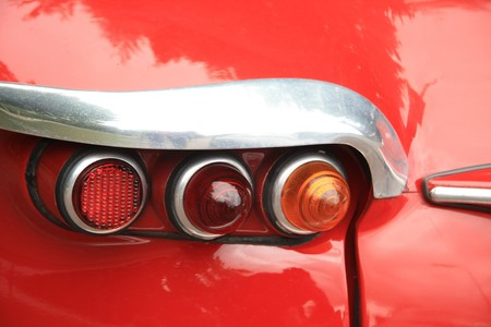three backlights, detail of a vintage French car Stock Photo - 7202700