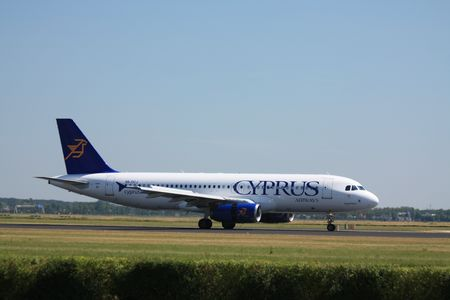 July 19th 2010: A5B-DCJ Cyprus Airways Airbus A320-232 , landed on Amsterdam Airport
