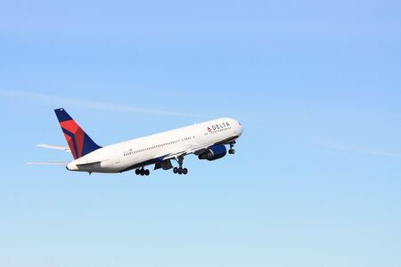 march, 7th 2010 Delta Air Lines Boeing B767-332ER taking off from Amsterdam Airport