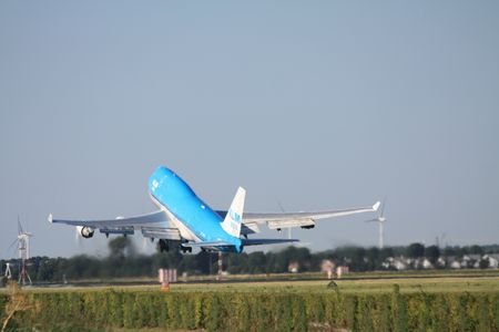 schiphol: July 24th 2010, PH-BFM KLM Royal Dutch Airlines Boeing 747-406  taking off from Amsterdam Airport Schiphol