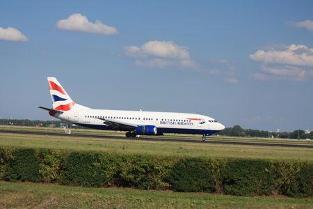 schiphol: 30-07-2010 Amsterdam Airport Schiphol, British Airways G-DOCS Boeing 737-436 landed on Polderbaan