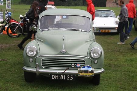 noord: August 6th, 2011 Oldtimershow Santpoort Noord, the Netherlands 1959 Morris Minor 1000