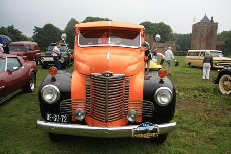 noord: August 6th, 2011 Oldtimershow Santpoort Noord, the Netherlands 1949 International Truck Editorial