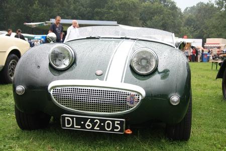 noord: August 6th, 2011 Oldtimershow Santpoort Noord, the Netherlands 1959 Austin Healey Sprite Frogeye