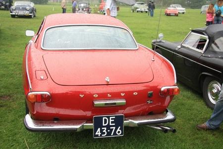 noord: August 6th, 2011 Oldtimershow Santpoort Noord, the Netherlands Vintage 1966 Volvo 1800